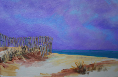 Quiet Beach Acrylic on Canvas Painting